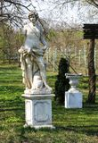 Male statue. In the summer garden Royalty Free Stock Photos