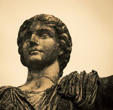 Male statue park in florence. Male robed statue in a park in Florence Italy Royalty Free Stock Images