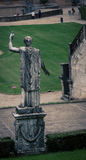 Male statue park in florence. Male robed statue in a park in Florence Italy Stock Photos