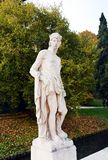 Male statue, river, trees and street in Castelfranco Veneto, in Italy. Male statue, walls, river, trees, street and castle in Castelfranco Veneto, in Veneto, in Royalty Free Stock Photography