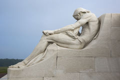 Male statue on the Vimy Ridge memorial Royalty Free Stock Photo
