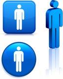 Male Stick Figure Stock Photography