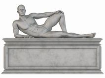 Male Stone Statue Royalty Free Stock Photos