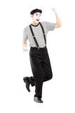 Male street performer dancing. Isolated on white background Royalty Free Stock Images