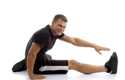 Male stretching his leg Royalty Free Stock Photo