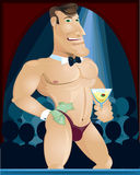 Male stripper Royalty Free Stock Image
