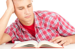 Male student with book Royalty Free Stock Photos