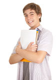 Male student with books Royalty Free Stock Photography