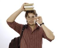 Male student with books Royalty Free Stock Photos