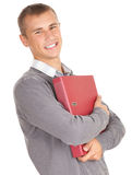 male student with file binder Stock Images