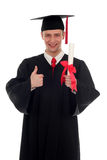Male student graduating royalty free stock images