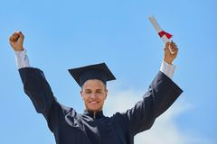 Male student graduation day Stock Photos