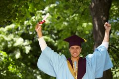 Male student graduation day Royalty Free Stock Image