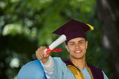 Male student graduation day Stock Images