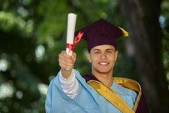 Male student graduation day Stock Image