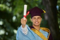 Male student graduation day Stock Image