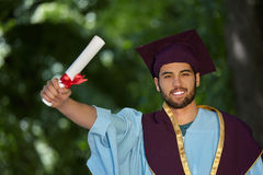Male student graduation day Royalty Free Stock Images