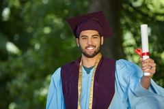Male student graduation day Stock Photo