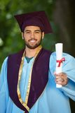Male student graduation day Royalty Free Stock Photography
