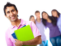 Male student with group Stock Photography