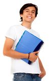Male student isolated Stock Image