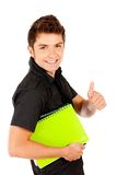 Male student isolated Royalty Free Stock Images