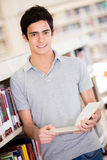 Male student at the library Royalty Free Stock Image
