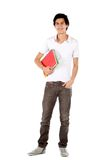 Male student with notebook Stock Photography