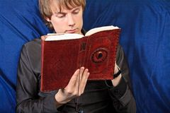 Male student with a notebook. close up Royalty Free Stock Image
