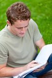 Male student outdoors Stock Photos