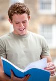 Male student outdoors Stock Photography