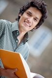Male student outdoors Royalty Free Stock Photography