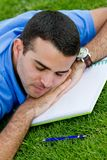 Male student sleeping Stock Photo