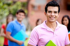 Male student smiling Stock Images