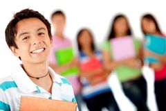 Male student smiling Stock Image
