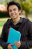 Male student smiling Royalty Free Stock Image