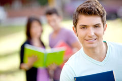 Male student smiling Royalty Free Stock Photos