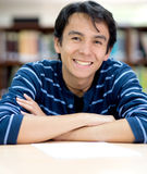 Male student smiling Royalty Free Stock Photography