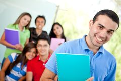 Male student at the university Royalty Free Stock Photo