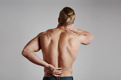 Male suffering from pain Royalty Free Stock Photo