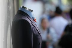 Male suit. Male business suit in street Stock Photo