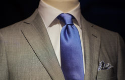 Male suit. Close up of male suit exposed in the clothes shop Royalty Free Stock Photos