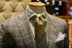 Male suit. Close up of male suit exposed in the clothes shop Stock Photography