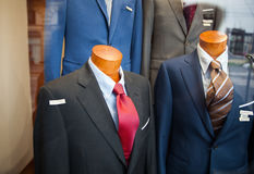 Male suit in the clothes shop Royalty Free Stock Images
