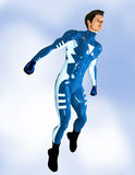 Male Superhero floating Royalty Free Stock Image