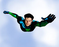 Male Superhero flying Royalty Free Stock Photos