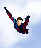 Male Superhero flying Stock Images