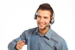 Male support technician Royalty Free Stock Photos