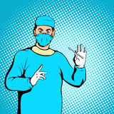 Male surgeon concept, comics style. Male surgeon concept in comics style for any design Royalty Free Stock Image