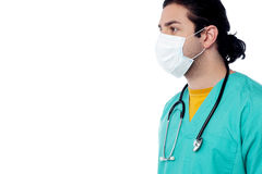 Male surgeon with face mask Royalty Free Stock Image